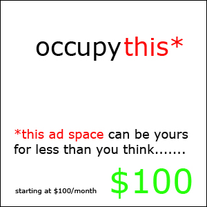 Occupy This Ad Space